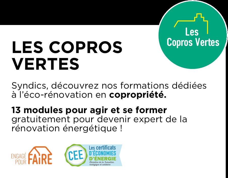 Encart Les Copros Vertes - Formation à la rénovation énergétique